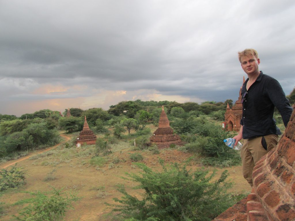 Intrepid Times Founder & Editor Nathan James Thomas in Bagan, Myanmar