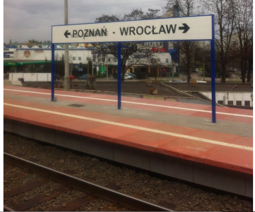 Poznan - Wroclaw Sign