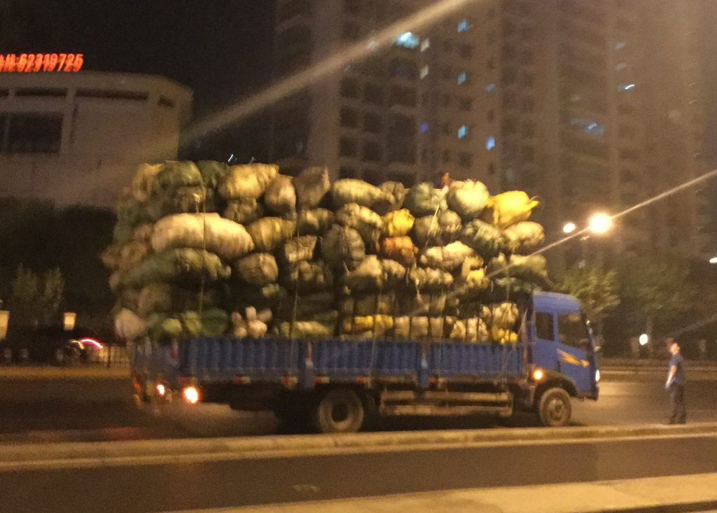 Piled high in Shanghai