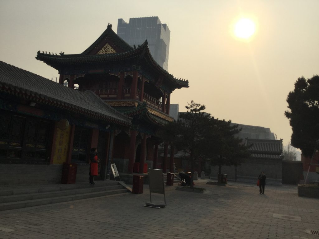The sun fights through smog in Tianjin
