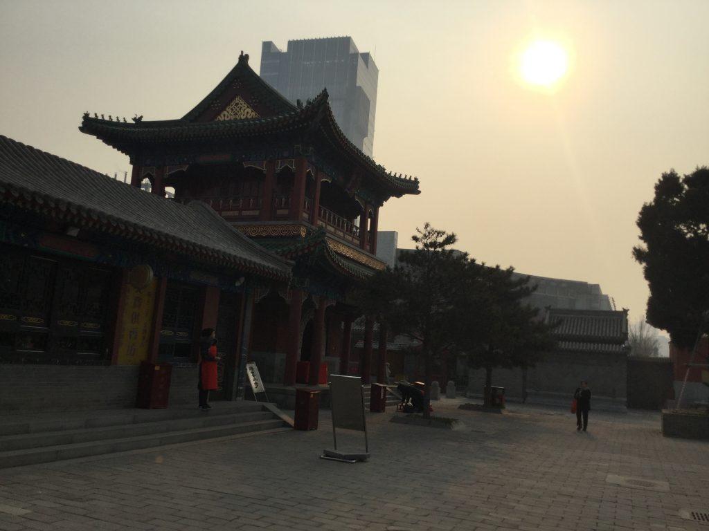 The sun fights through smog in Tianjin