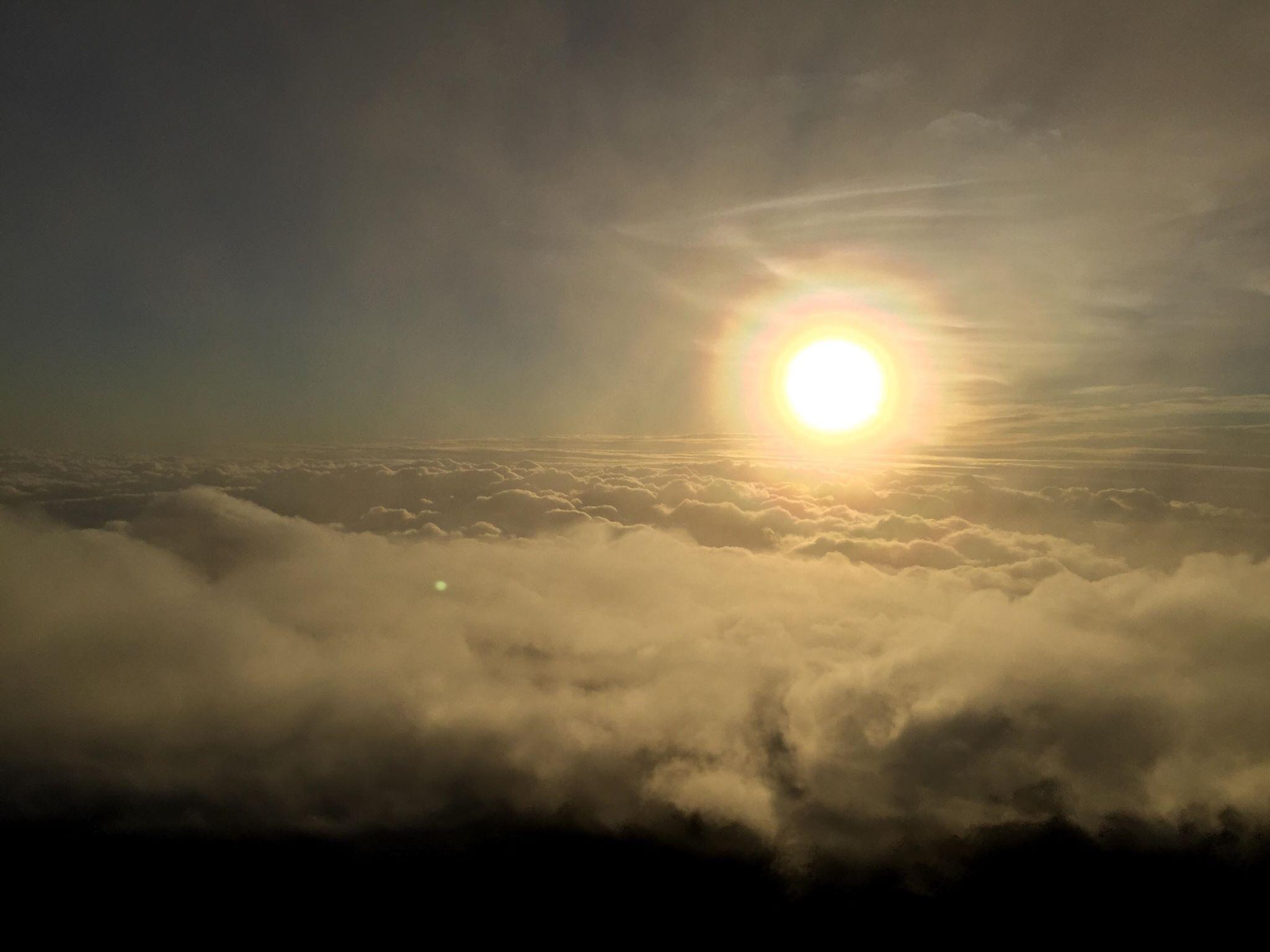 The Typhoon on Mt Fuji